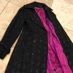 Jackets & Blazers - Beautiful black fabric lined knee length coat💕